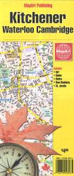 Kitchener, Waterloo, Cambridge Road Map by MapArt