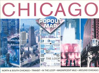 Chicago, Illinois, PopOut Map by PopOut Products