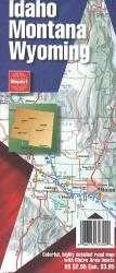 Idaho, Montana, & Wyoming Road Atlas by MapArt