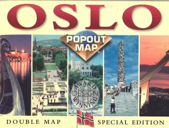 Oslo, Norway, PopOut Map by PopOut Products