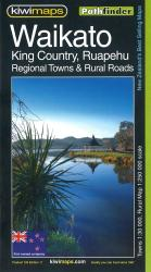 Waikato, King Country & Ruapehu District Towns, New Zealand Pathfinder Map by Kiwi Maps