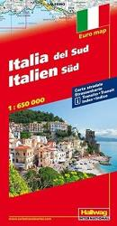 Southern Italy, Road Map by Hallwag