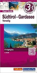 Southern Tyrol, Lake Garda, Venice, Flash Guide by Hallwag