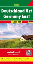 Germany East, Road Map by Freytag, Berndt und Artaria