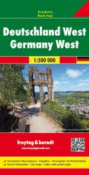 Germany West, Road Map by Freytag-Berndt und Artaria