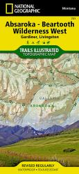 Absaroka-Beartooth Wilderness, West, Map 721 by National Geographic Maps