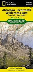 Absaroka-Beartooth Wilderness, East, Map 722 by National Geographic Maps