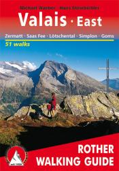 Valais, East, Walking Guide by Rother Walking Guide, Bergverlag Rudolf Rother