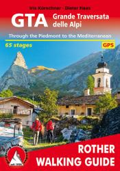 Great Crossing of the Alps, Walking Guide by Rother Walking Guide