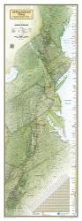 Appalachian Trail Wall Map Wall Map - Laminated (18 x 48 inches) by National Geographic Maps