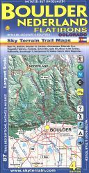 Boulder & Nederland Flatirons Hiking Map by Sky Terrain