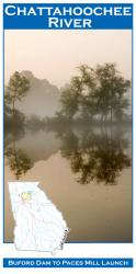 Chattahoochee River Fishing Map by Wilderness Adventures Press