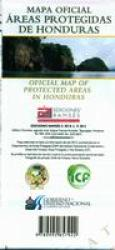 Honduras Protected Areas Map by Ediciones Ramses