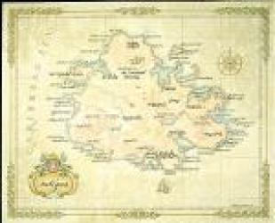 Antigua Antique-Style Map by One Treasure