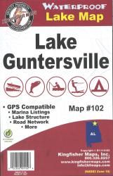 Guntersville Waterproof Lake Map by Kingfisher Maps, Inc.