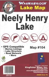 Neely Henry Waterproof Lake Map by Kingfisher Maps, Inc.