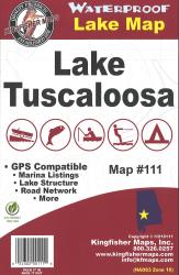 Tuscaloosa Waterproof Lake Map by Kingfisher Maps, Inc.