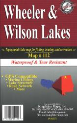 Wheeler & Wilson Lakes Waterproof Lake Map by Kingfisher Maps, Inc.