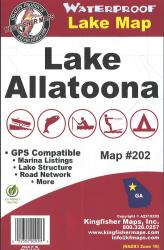 Lake Allatoona Waterproof Lake Map by Kingfisher Maps, Inc.
