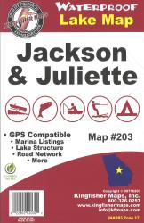 Jackson/Juliette Waterproof Lake Map by Kingfisher Maps, Inc.
