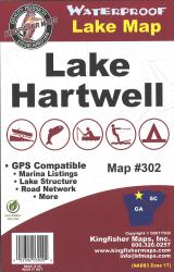 Hartwell Waterproof Lake Map by Kingfisher Maps, Inc.