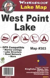 West Point Waterproof Lake Map by Kingfisher Maps, Inc.