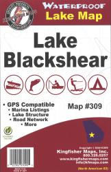 Blackshear Waterproof Lake Map by Kingfisher Maps, Inc.
