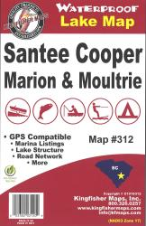 Marion/Moultrie Waterproof Lake Map by Kingfisher Maps, Inc.