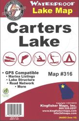 Carters Waterproof Lake Map by Kingfisher Maps, Inc.