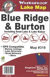 Blue Ridge/Burton Waterproof Lake Map by Kingfisher Maps, Inc.
