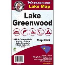 Greenwood Waterproof Lake Map by Kingfisher Maps, Inc.