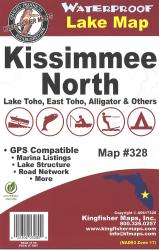 Kissimmee North Waterproof Lake Map by Kingfisher Maps, Inc.