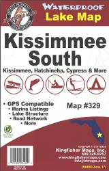 Kissimmee South Waterproof Lake Map by Kingfisher Maps, Inc.