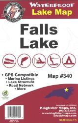 Falls Waterproof Lake Map by Kingfisher Maps, Inc.