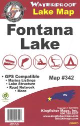 Fontana Waterproof Lake Map by Kingfisher Maps, Inc.