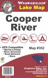 Cooper River Waterproof Lake Map by Kingfisher Maps, Inc.