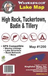 High Rock/Tuckertown/Badin/Tillery Waterproof Lake Map by Kingfisher Maps, Inc.