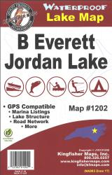 B Everett Jordan Waterproof Lake Map by Kingfisher Maps, Inc.