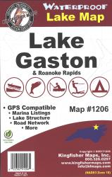 Gaston/Roanoke Rapids Waterproof Lake Map by Kingfisher Maps, Inc.