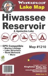 Hiwassee/Apalachia Waterproof Lake Map by Kingfisher Maps, Inc.