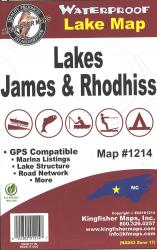 James/Rhodhiss Waterproof Lake Map by Kingfisher Maps, Inc.