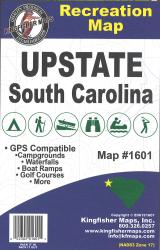 Upstate South Carolina Recreation Map by Kingfisher Maps, Inc.