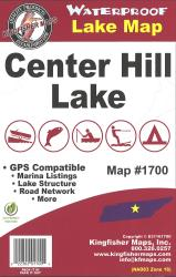 Center Hill Waterproof Lake Map by Kingfisher Maps, Inc.