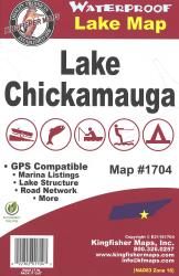 Chickamauga Waterproof Lake Map by Kingfisher Maps, Inc.
