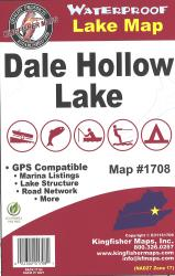 Dale Hollow Waterproof Lake Map by Kingfisher Maps, Inc.