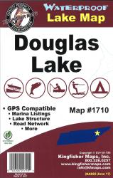 Douglas Waterproof Lake Map by Kingfisher Maps, Inc.