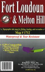Fort Loudon/Melton Hill Waterproof Lake Map by Kingfisher Maps, Inc.