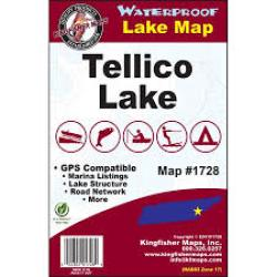 Tellico Waterproof Lake Map by Kingfisher Maps, Inc.