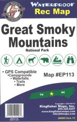 Great Smoky Mountain National Park Map by Kingfisher Maps, Inc.