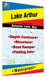 Lake Arthur, Pennsylvania fishing map by Fishing Hot Spots